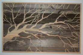 LARGE Indoor Outdoor Rustic Tree Pallet Wood Wall Art 4 FOOT LONG $375
