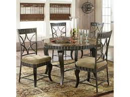 Marble Top Dining Table Round Steve Silver Hamlyn 5 Piece Round Faux Marble Top Metal Dining