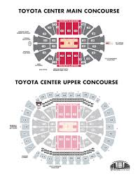 Toyota Center Interactive Seating Chart Unmistakable Toyota Center Seating Chart Rockets Game