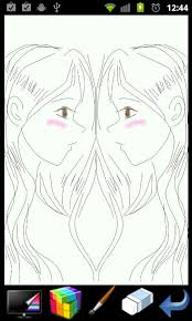 looking in mirror different reflection drawing. picasso: mirror draw!- screenshot looking in different reflection drawing
