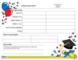 Graduation Classroom Party Sign Up Sheet Pto Today