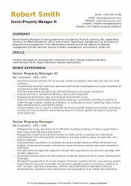 Sample Zoning Supervisor Resume Senior Property Manager Resume Samples Qwikresume