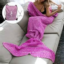 Mermaid Tail Blanket Knitting Pattern Interesting MOSTON Knitting Pattern Mermaid Tail Blanket Soft And Warm Mermaid
