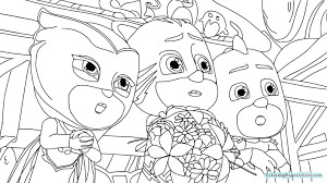 Pj Masks Coloring Pages Catboy Mountainstyleco