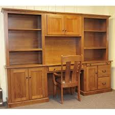 cherry office wall unit