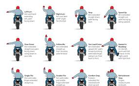 Motorcycle Types Chart 16 Motorcycle Group Riding Hand Signals Animated Chart