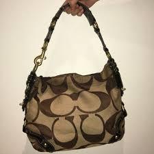 Coach Signature Medium  Carly  Hobo HandBag (USED), Luxury, Bags ...