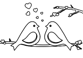 Small Picture Love Birds Talking About Love All Day Coloring Pages Batch Coloring