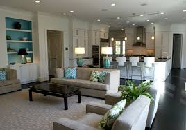 Open Living Room And Kitchen Designs Small Entry Way Connected To Family Room Love The Coffee Table