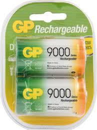 """<b>Аккумулятор</b> """"GP Batteries"""", тип <b>D</b>, 9000 mAh, 2 шт"""