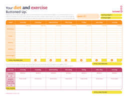 printable food journal 10 excel templates to track your health and fitness
