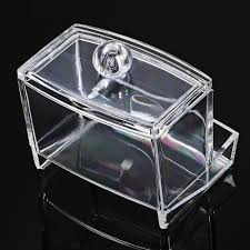 Original Clear Acrylic Q tip Storage Holder Box Transparent Cotton Swab  Organizer Cosmetic Makeup Storage Box-in Storage Boxes & Bins from Home &  Garden on ...