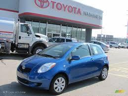 2007 Blazing Blue Metallic Toyota Yaris 3 Door Liftback #35956118 ...