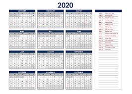 Microsoft Excel Calendar 2020 Printable 2020 Excel Calendar Templates Calendarlabs