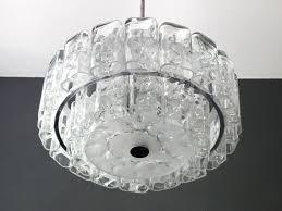 large mid century modern crystal glass chandelier from doria leuchten