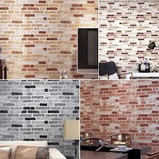 ... Large-size of Eye Haok Home Pvc Vinyl Vintage Faux Brick Stone D  Wallpaper Living ...