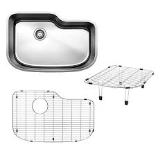 blanco one 30 in x 20 in satin polished single basin stainless steel