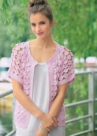 Lacy Crochet Cardigan Pattern Simple Decorating Design