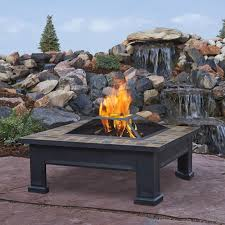 fire pit table square fire pit table outdoor fire place wood burning breckenridge style