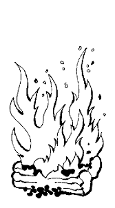 Small Picture Flames Coloring Pages Coloring Home