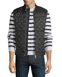 Moncler Rod Quilted Nylon Moto Vest, Black &  Adamdwight.com
