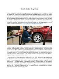 Vehicle Body Design Pdf Details On Car Body Shop Pdf Archive