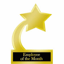 Employee Of The Month Trophy Employee Of The Month Gold Star Award Trophy Cutout