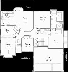 main floor plan for 10170 sprawling ranch house plans house plans with basement house