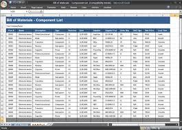 Bill Of Materials - Component List Spreadsheet | A Bill Of M… | Flickr