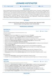 Data Scientist Resume Magnificent Data Scientist Resume Sample By Hiration