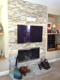 mounting a tv over fireplace into brick flat screen