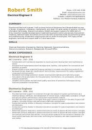 Engineering Skills Resume Electrical Engineer Resume Samples Qwikresume