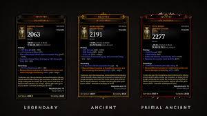 Legendary An Ancient Primal Guide Diablo Iii