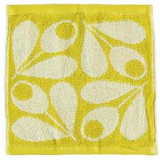this is a product shot of orla kiely orla acorn face cloth