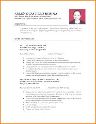 It Resume Format Resume Internship Objective Financial Economist