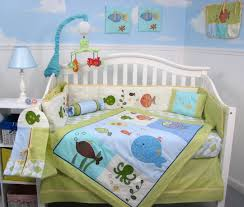 sea life bedding white bed