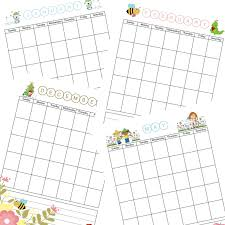 Printable Blank Monthly Calendar Download The Free Printable Blank Monthly Calendar For Children