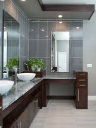 design ideas for a large modern ensuite bathroom in kansas city with flat panel cabinets