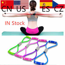 Yoga Gum Fitness Resistance <b>8 Word Chest Expander</b> Rope ...
