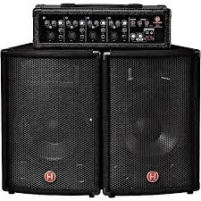 Harbinger M60 60-Watt, 4-Channel Compact Portable PA With 10 In.  Guitar Center