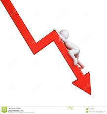 Graph Down Stock Illustration Illustration Of Crisis 34879425