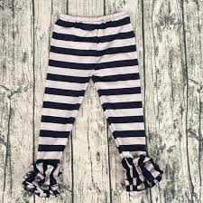 Baby Kids Icing Ruffle Pants Best Selling Christmas Children Girl Ruffle Black Stripe Pants Boys Pant Size Chart Junior Girls Snowboard Pants From