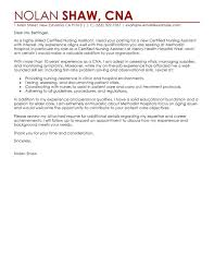 Certified Nurse Assistant Cover Letter Nursing Examples Resume ...