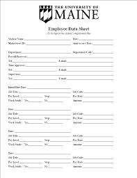 Personal Data Sheet Template Caseyroberts Co
