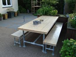 Outdoor Picnic Table Made With Kee Klamp Pipe Fittings. | Pipe ...