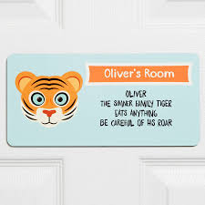 tiger children s bedroom sign