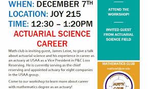 Actuarial Science Career Talk Dawgden Uw Tacoma