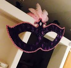 Large Masquerade Masks For Decoration Large Masquerade Mask Hanging Decorations Made using cardboard 2