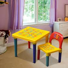 Children Playroom Alphabet Chair Table Set Kids Children Playroom Plastic Abc Table