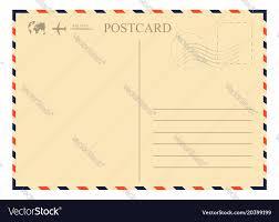 Vintage Postcards Templates Vintage Postcard Template Retro Airmail Envelope